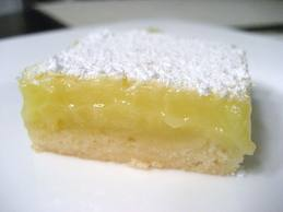 lemon bar Low calorie desserts
