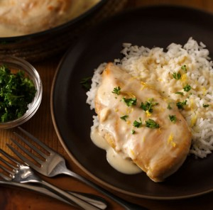Chicken & Rice with Recipe Starter Creamy Roasted Garlic