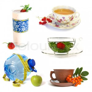 collection of healthy drinks on white background 300x300 Weight Loss Drinks that Actually Work!