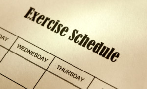 exercise.schedule 300x183 How Often To Exercise?